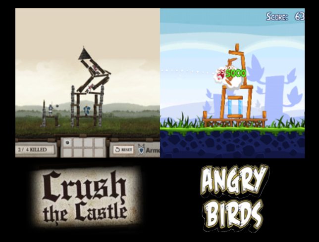 'Crush the Castle and Angry Birds Making Games'