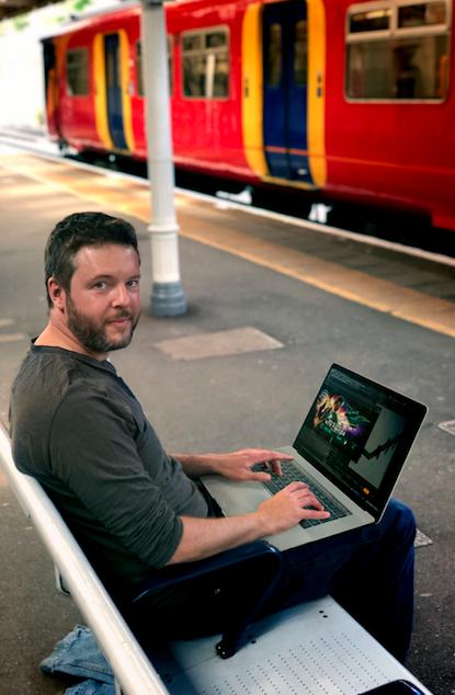Ben Scriven On Train