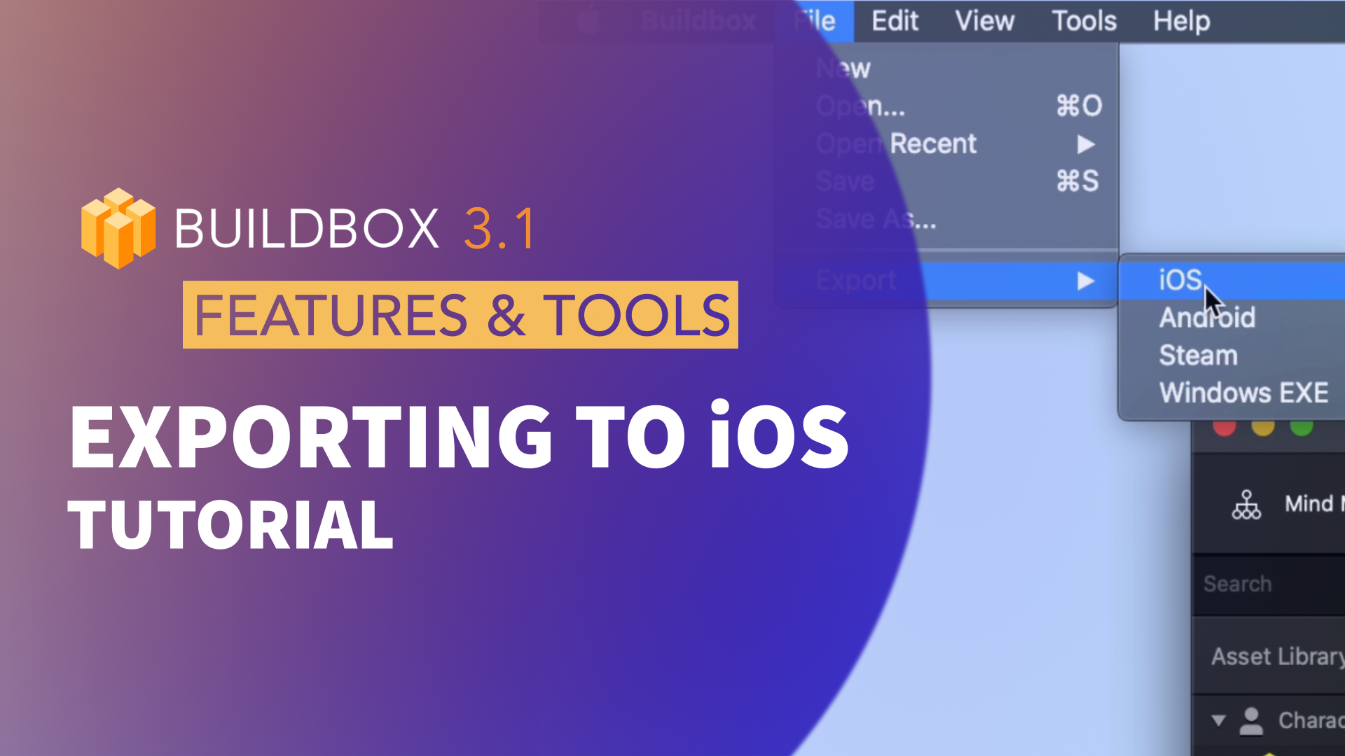 Exporting to iOS
